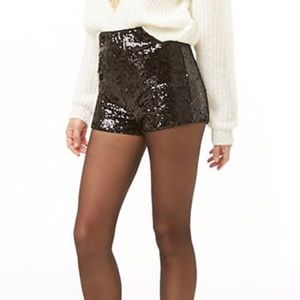 Sequin High-Rise Shorts